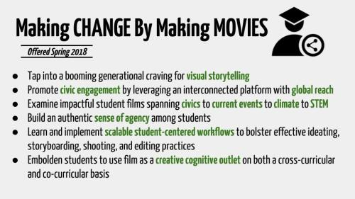Digital Flyer- Making Change By Making Movies